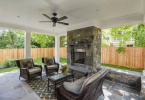 Covered Patio w/Fireplace